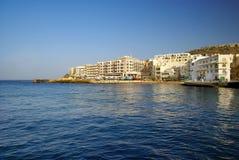 Marsalforn wioska w Gozo wyspie obraz royalty free