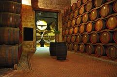 Marsali wina loch i baryłki, wewnętrzny widok Obraz Royalty Free