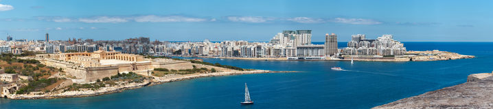 Marsamxett harbour with Sliema panorama Malta Royalty Free Stock Image