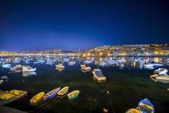 Marsascala, Мальта Стоковое Фото