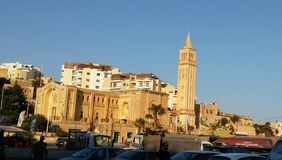 Marsaskala - старый рыбацкий поселок на острове Мальты стоковое фото