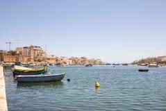 Marsaskala bay with boats, Malta Royalty Free Stock Image