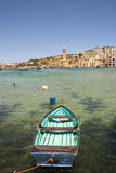 Marsaskala bay with boats, Malta Royalty Free Stock Images