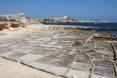 Marsaskala Salt Pans Stock Photo