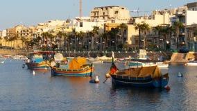 Marsaskala - stara wioska rybacka na Malta wyspie zdjęcia royalty free