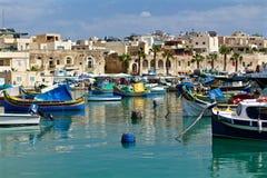 Marsaxlokk海湾,马耳他 免版税库存照片