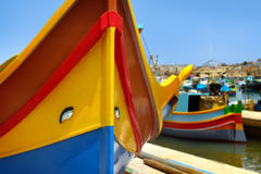 Marsaxlokk渔村,马耳他 免版税库存照片