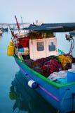Marsaxlokk渔村,马耳他 免版税图库摄影