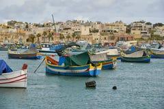 Marsaxlokk港口马耳他 库存图片