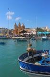 Marsaxlokk,马耳他港口  免版税库存图片