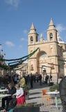 Marsaxlokk è un paesino di pescatori tradizionale situato nella parte sudorientale di Malta, Fotografie Stock Libere da Diritti