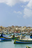 Marsaxlokk. A small pictorial fishing village on the island Malta royalty free stock images