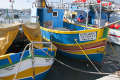 Marsaxlokk традиционный рыбацкий поселок расположенный в юговосточной части Мальты, Стоковая Фотография RF