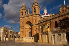 Marsaxlokk Church, Malta Stock Photo