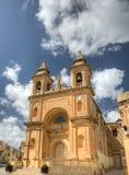Marsaxlokk Church, Malta. Lady of Pompeii Church, Marsaxlokk, in Malta Stock Photo