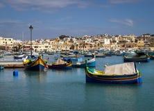 Marsaxlokk. The city embankment. Malta. royalty free stock photos