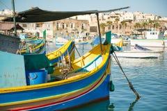 Marsaxlokk-Dorf, Malta Lizenzfreie Stockbilder