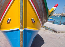 Marsaxlokk eye boat Royalty Free Stock Images