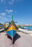 Marsaxlokk eye boat Royalty Free Stock Photography
