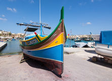 Marsaxlokk eye boat Royalty Free Stock Photo