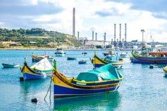 Marsaxlokk, famous fishermen village in Malta stock photography