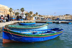 Marsaxlokk-Fischerdorf, Malta Stockfoto