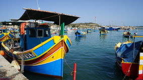 Marsaxlokk Fishing Village Royalty Free Stock Images