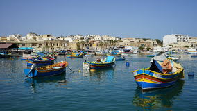 Marsaxlokk Fishing Village Royalty Free Stock Photos