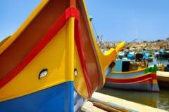 Marsaxlokk fiskeläge, Malta Royaltyfria Foton