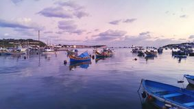 Marsaxlokk harbor Royalty Free Stock Images