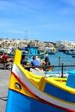 Marsaxlokk harbour, Malta. Stock Images