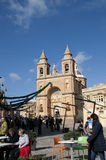 Marsaxlokk jest tradycyjnym wioską rybacką lokalizować w południowo-wschodni części Malta, Zdjęcia Stock