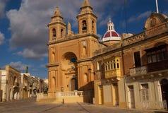 Marsaxlokk Kirche, Malta Stockfoto