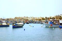 Marsaxlokk, Malta imagenes de archivo