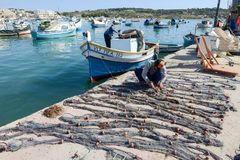 The fishing village of Marsaxlokk on Malta island Royalty Free Stock Photo
