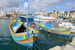 The fishing village of Marsaxlokk on Malta island Royalty Free Stock Photography