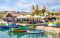 Marsaxlokk, Malta, old fisherman village and important tourist a Stock Photography