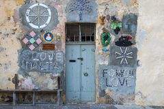 Marsaxlokk, Malta - Traditional decorated maltese house. At Marsaxlokk market  at daylight Stock Photography