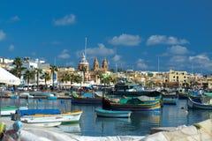 Marsaxlokk, Malte images libres de droits