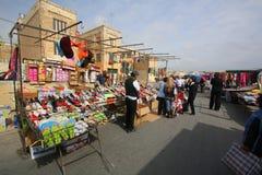 Marsaxlokk Sunday street market. The Sunday outdoor street market in the Maltese coastal town of Marsaxlokk Stock Photos