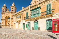 Marsaxlokk town square, Malta.  Royalty Free Stock Images