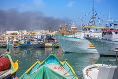 Marsaxlokk is a traditional fishing village in Malta Royalty Free Stock Photography