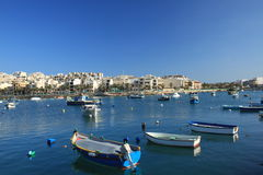 Marsaxlokk. Traditional fishing village in the South Eastern Region of Malta Stock Photography