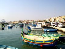 Marsaxlokk village Royalty Free Stock Photography