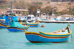 Marsaxlokk village in Malta Royalty Free Stock Photo