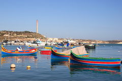 Marsaxlook Bay Royalty Free Stock Photography