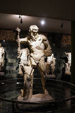 Marsayas, the satyr. Sacrifed to Apollo, sculpture in the museum  Antalya,  Turkey Stock Photos