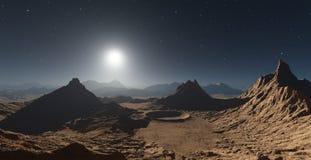 Marsbewonerlandschap met kraters vector illustratie