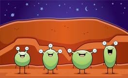 Marsbewoners Royalty-vrije Stock Afbeelding