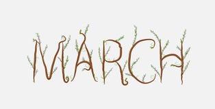 marsch Arkivbild